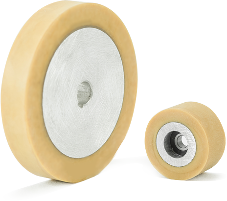 Pure natural rubber wheels